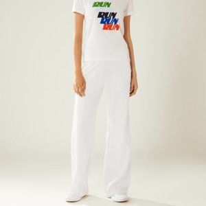 TORY SPORT White Banner Tear Away Track Pant